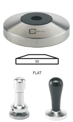 Concept-Art Coffee Tamper Base, 55mm Stainless, Flat, Tamper, Concept-Art - Barista Warehouse