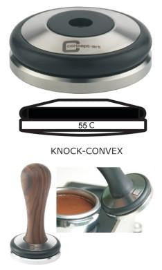 Concept-Art Coffee Tamper Base, 55mm Stainless Knock Convex, Tamper, Concept-Art - Barista Warehouse