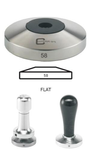 Concept-Art Coffee Tamper Base, 58mm Stainless, Flat, Tamper, Concept-Art - Barista Warehouse