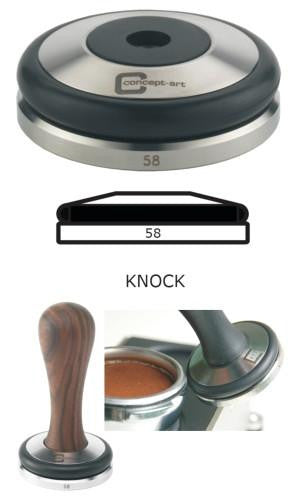 Concept-Art Coffee Tamper Base, 58mm Stainless, Knock Flat, Tamper, Concept-Art - Barista Warehouse