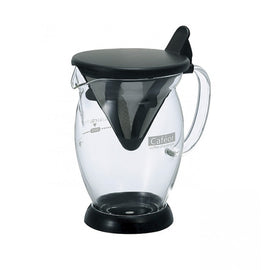 Hario Cafeor Dripper Pot - 2 Cup Black, simple, Hario - Barista Warehouse