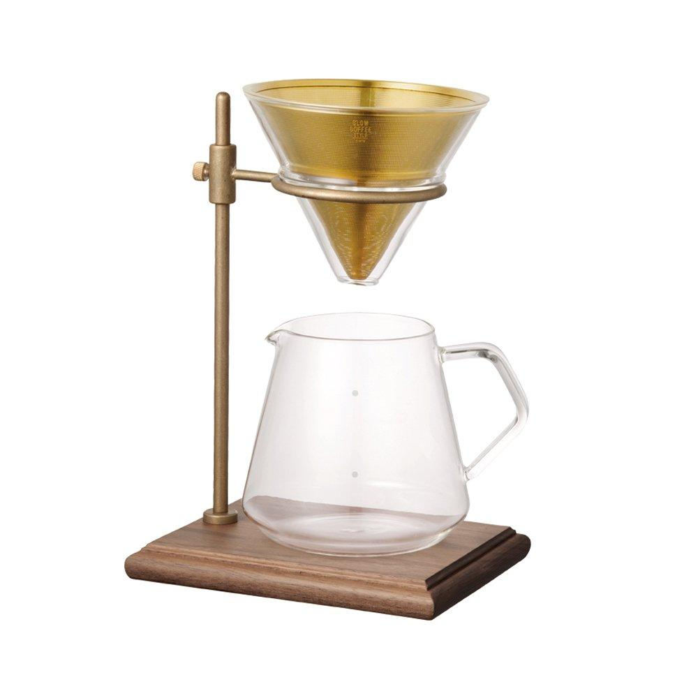 Kinto Brass Brewer Stand Set, simple, Kinto - Barista Warehouse