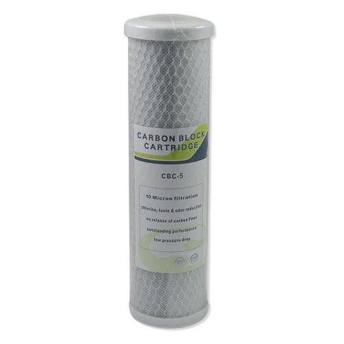"Replacement Water Filter, 10"" x 2.5"", 10 Micron, Carbon"