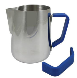 Rhino Milk Pitcher Blue Grip, Milk Jugs, Rhino - Barista Warehouse