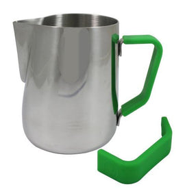 Rhino Milk Pitcher Green Grip 12oz