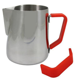 Rhino Milk Pitcher Red Grip, Milk Jugs, Rhino - Barista Warehouse
