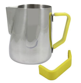 Rhino Milk Pitcher Yellow Grip, Milk Jugs, Rhino - Barista Warehouse
