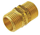 "Brass Nipple, 3/8"" Male to 3/8"" Male BSPT, Brass Nipple, Barista Warehouse - Barista Warehouse"