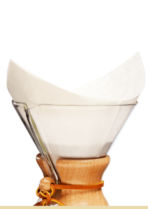Chemex 6 Cup Square Filters, 100PK- Oxygen Bleached, simple, Chemex - Barista Warehouse