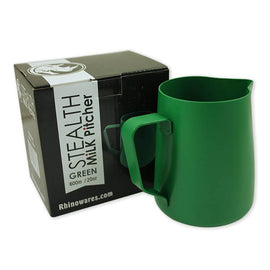 Rhino Stealth Milk Jug - 600ml/20oz - Green, simple, Rhino - Barista Warehouse
