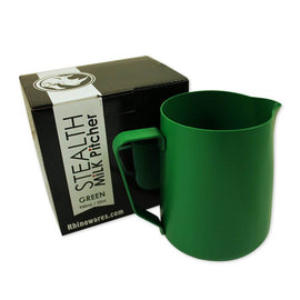 Rhino Stealth Milk Pitcher - 950ml/32oz - Green, simple, Rhino - Barista Warehouse