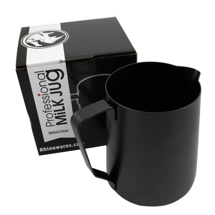 Rhino Stealth Milk Pitcher – 950ml/32oz – Black