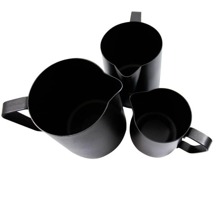 Rhino Black Stealth Milk Pitcher - 20oz/600ml, simple, Rhino - Barista Warehouse