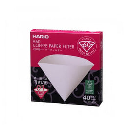 V60 1 CUP (40PCS) WHITE PAPERS RETAIL, simple, Barista Warehouse - Barista Warehouse