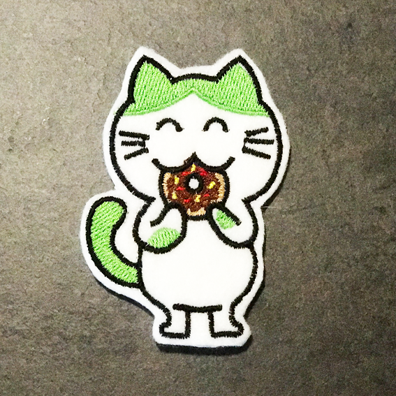 Finger Puppet:  Green Kitty