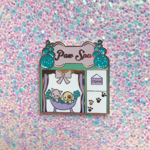 Paw Spa Enamel Pin