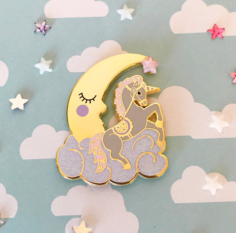 Moon Unicorn Enamel Pin