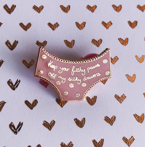 Undies Enamel Pin