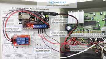 New Product! Konnected Alarm Panel INTERFACE connects in parallel to an existing wired alarm system