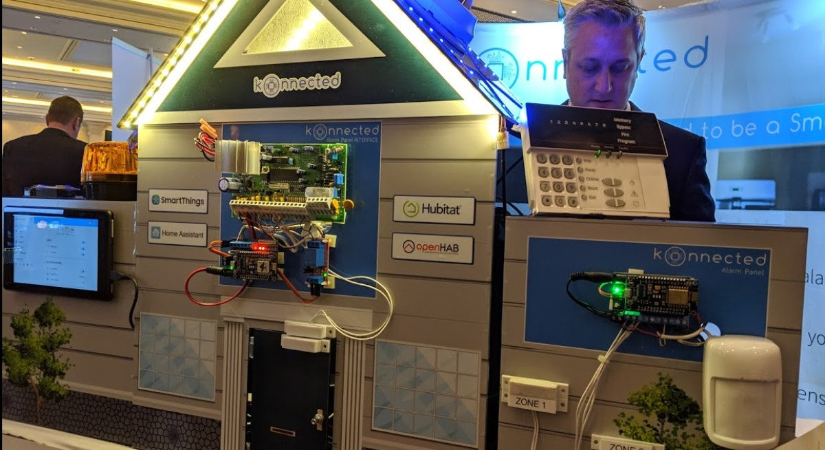 "Konnected called the ""most intriguing"" of the DIY Alarm Takeovers at ISC West 2019"