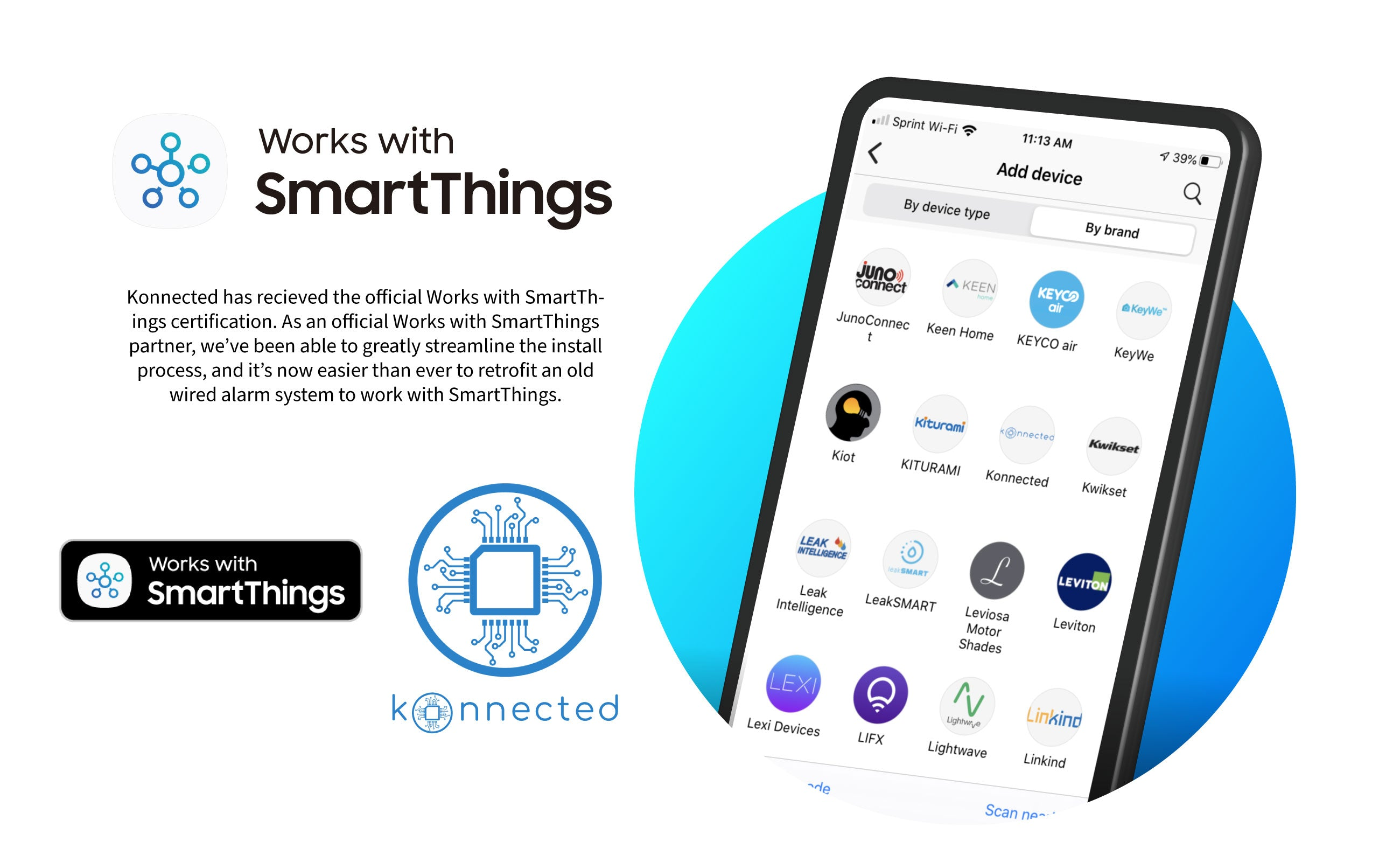 Konnected Earns Official Works With SmartThings Certification