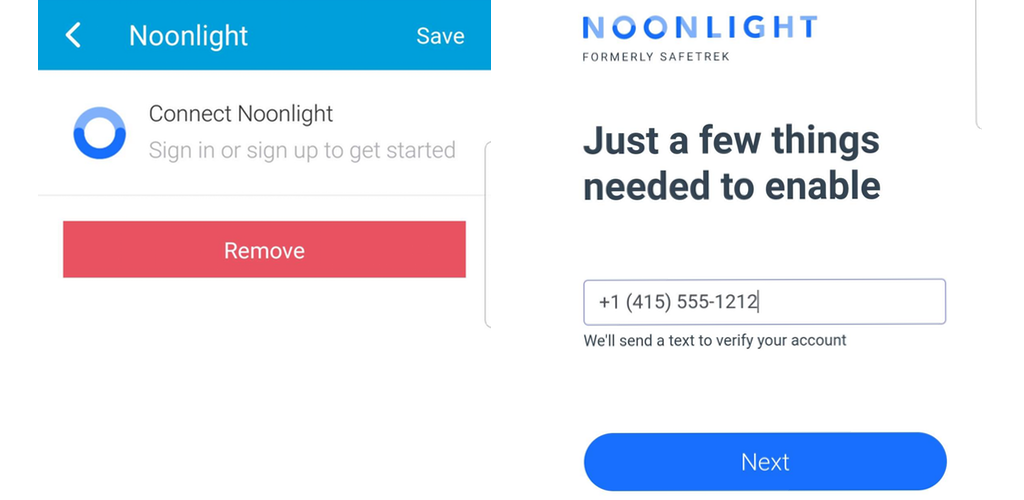 Connect Noonlight in just a few minutes