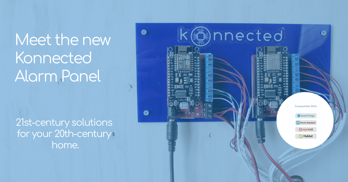Konnected Inc  | Konnected Alarm Panel connects a wired alarm system