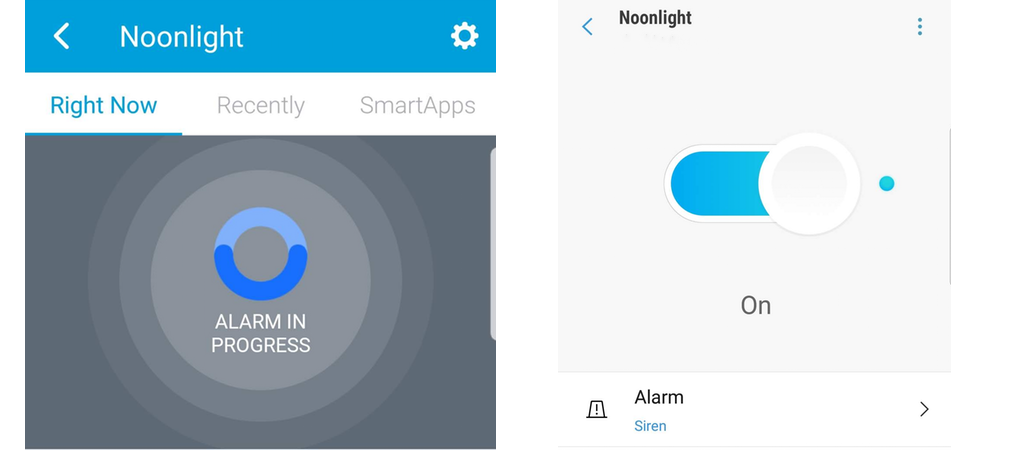 Noonlight works in both SmartThings apps