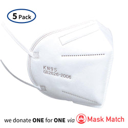 KN95 Face Mask Disposable Respirator (5-pack)