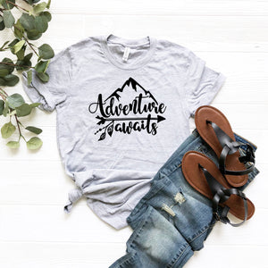 Adventure Awaits T-Shirt - The Chaotically Creative Mom
