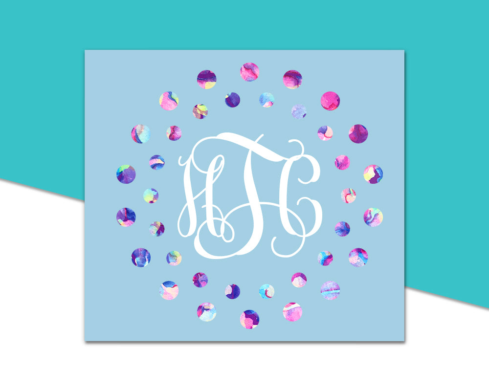 Vine Monogram - Dot Frame - The Chaotically Creative Mom