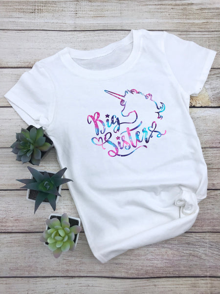 Big Sister - Unicorn T-Shirt - The Chaotically Creative Mom