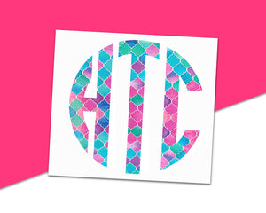 Circle Monogram - The Chaotically Creative Mom
