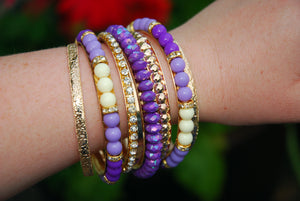 Purple Bracelets Set - The Chaotically Creative Mom