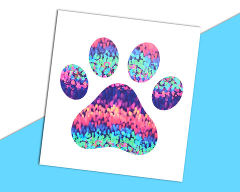 Dog Paw Decal - The Chaotically Creative Mom