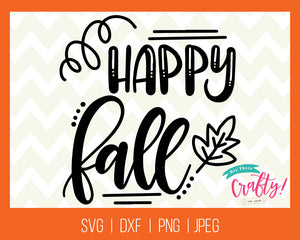 Happy Fall - Digital File - The Chaotically Creative Mom