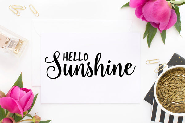 Hello Sunshine PNG, SVG, JPEG - The Chaotically Creative Mom