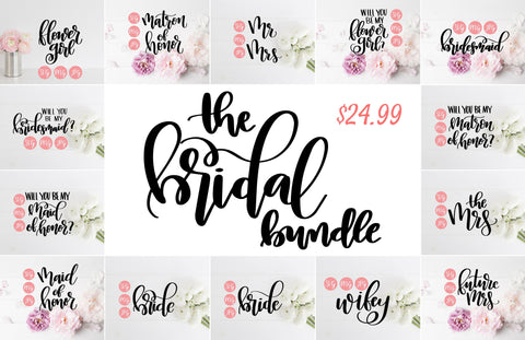 Bridal Bundle | Digital Files - The Chaotically Creative Mom
