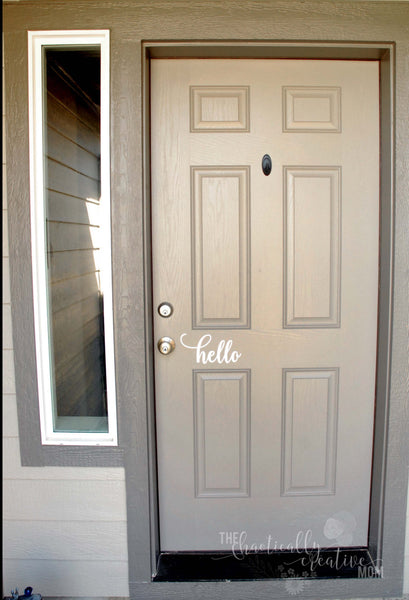 Hello Door Decal - The Chaotically Creative Mom
