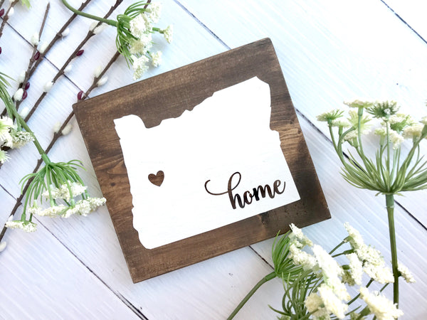 Mini Wood Home Sign - The Chaotically Creative Mom