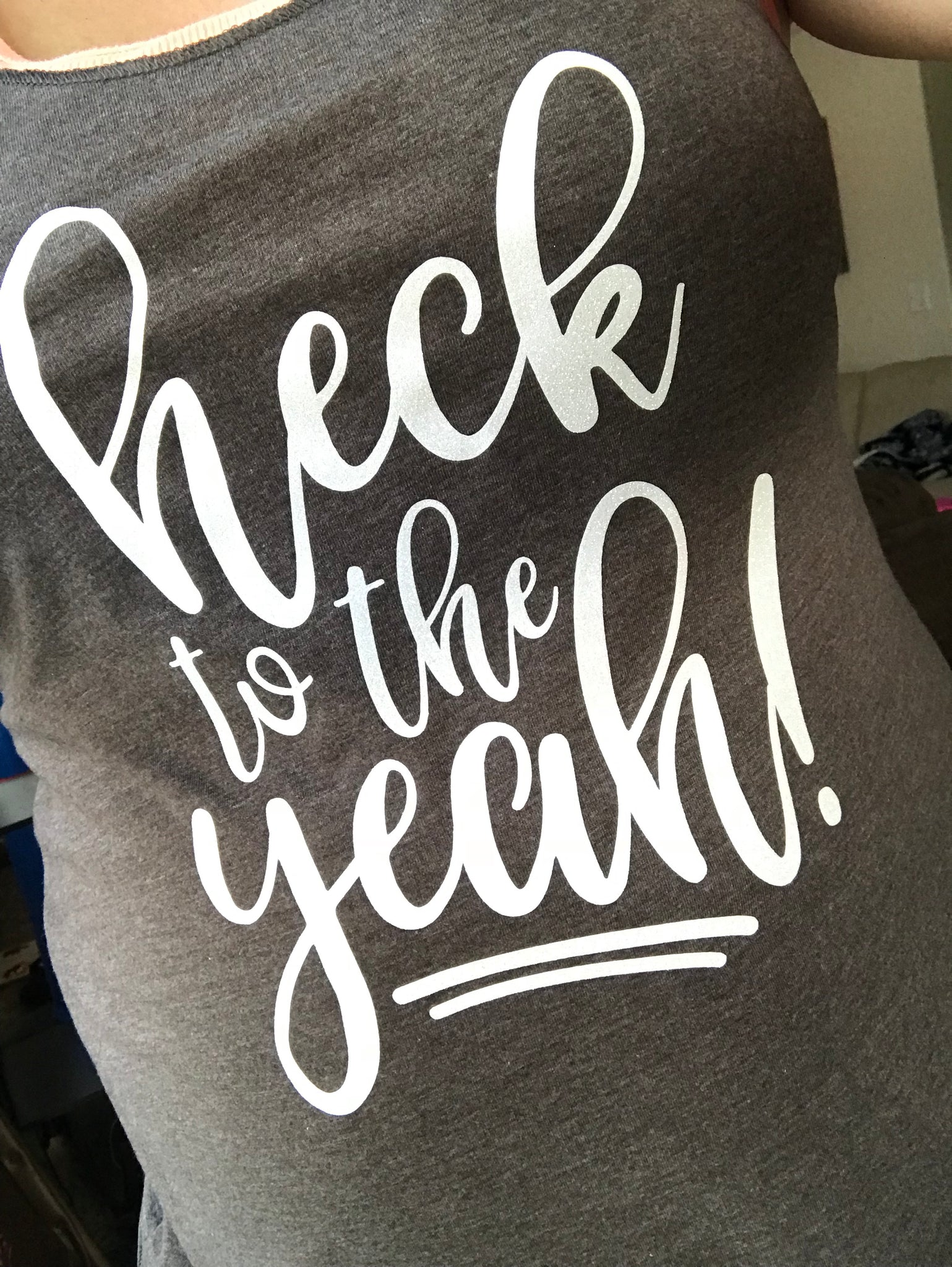 Heck to the Yeah! Tank Top - The Chaotically Creative Mom