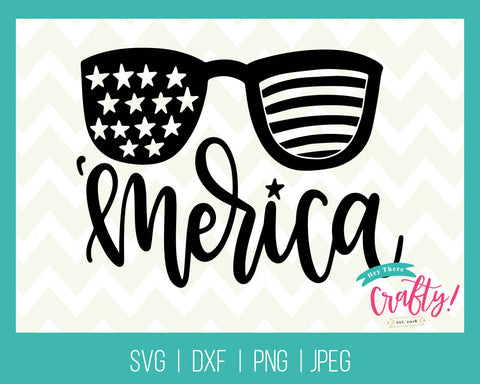 'Merica Glasses | Digital File - The Chaotically Creative Mom