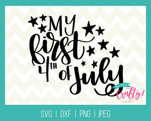 My First 4th of July Hand Lettered | Digital File - The Chaotically Creative Mom