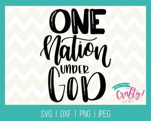 One Nation Under God | Digital File - The Chaotically Creative Mom