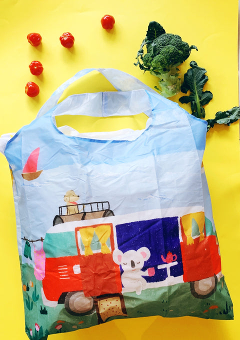 Reusable Shopping Bag - Koala and Kombi