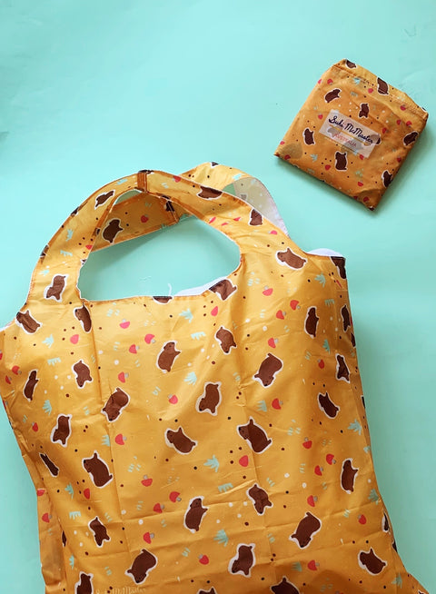 Reusable Shopping Bag - Happy Wombat