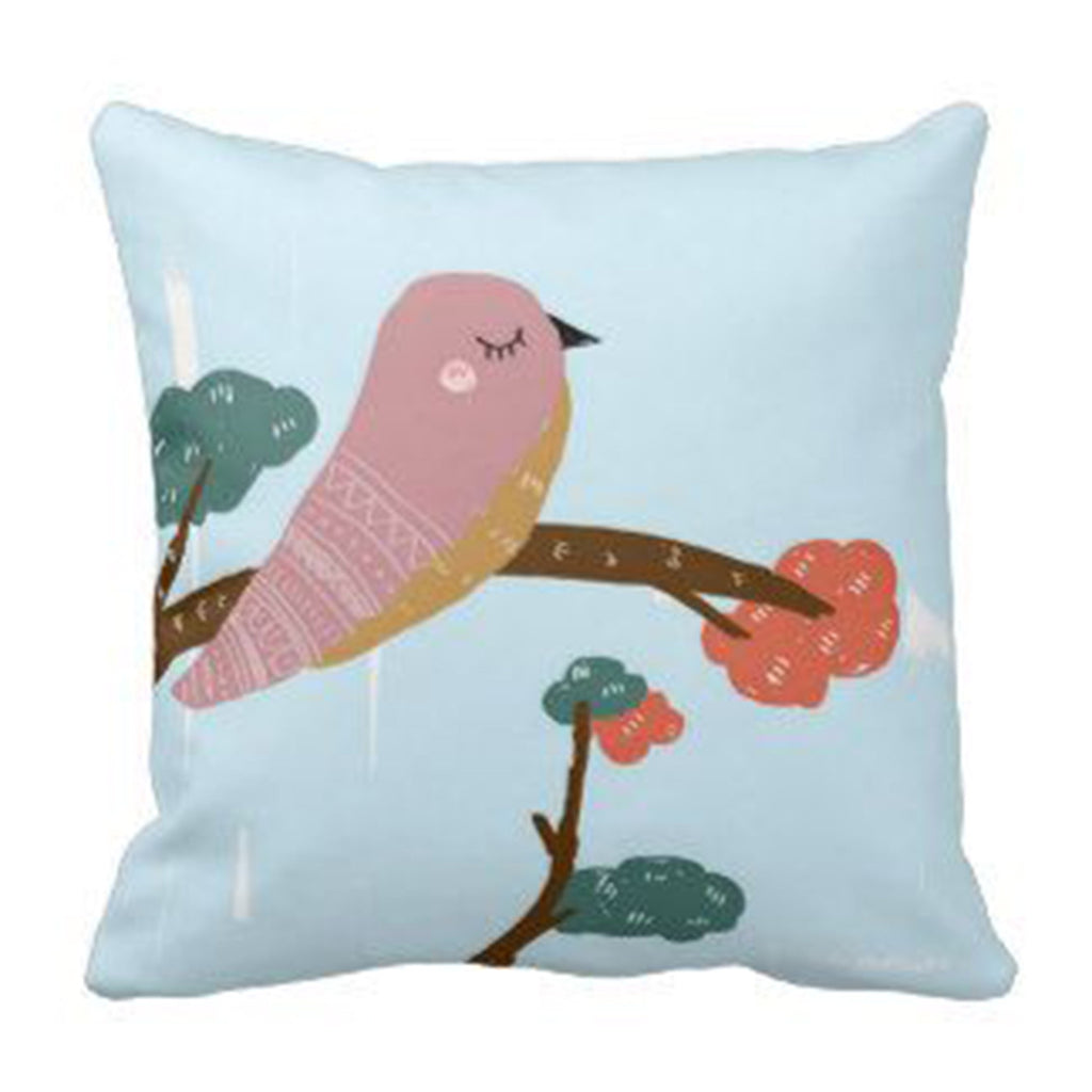 Cushion - Bird on branch
