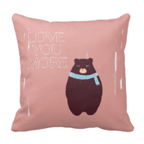 Cushion cover - Love you more bear