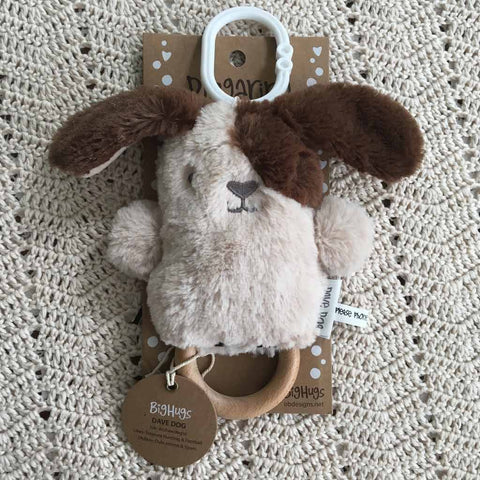 Baby Toy -  Dave Dog (Beige) Dingaring