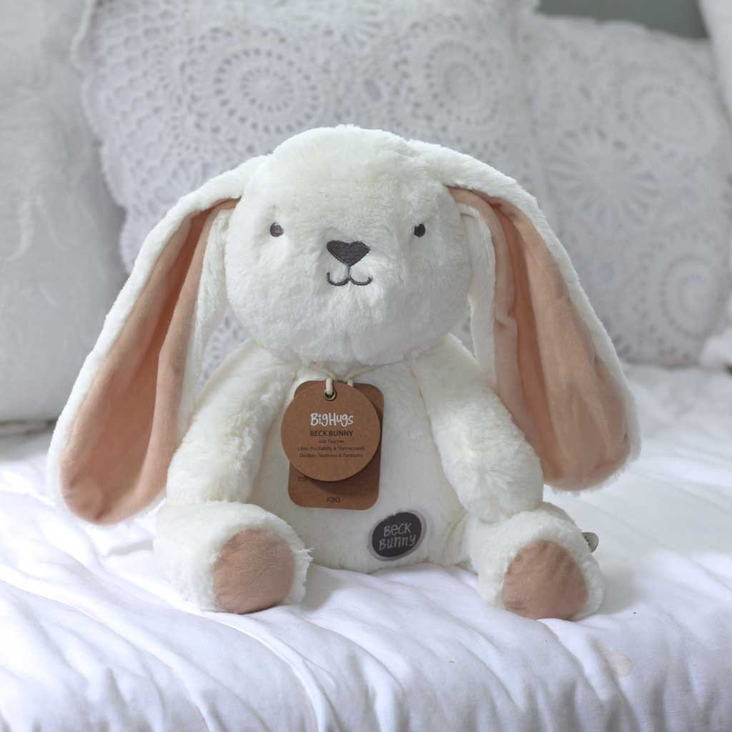 Baby Toy - Beck Bunny (White) Huggie
